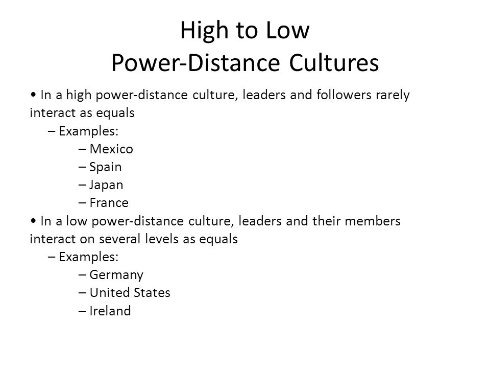 power distance of japan Power distance is the extent to which the lower ranking individuals of a society accept and expect that power is distributed unequally  japan-25-11 upon the .