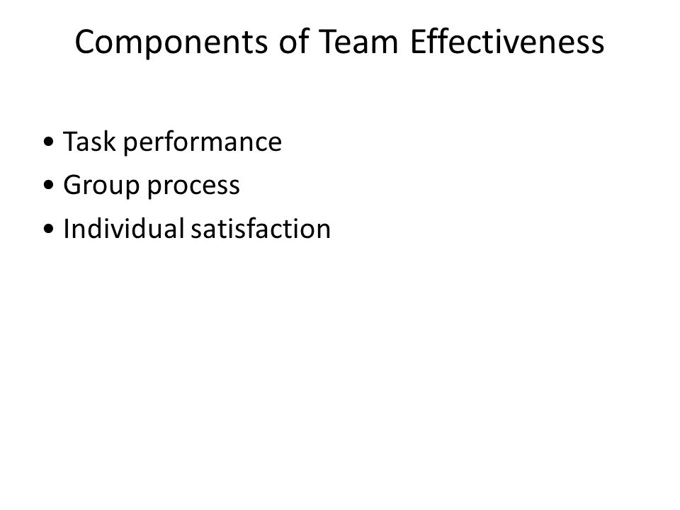 components of group performance and satisfaction Key components in product management success (and failure): a model of product managers′ job performance and job satisfaction in the turbulent 1990s and beyond.