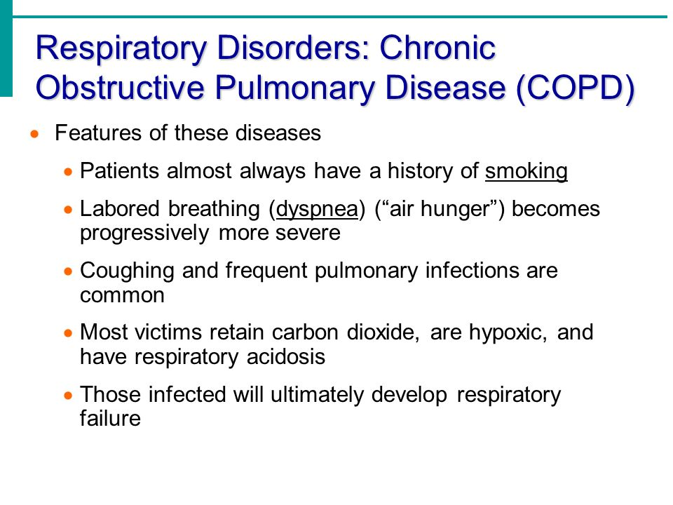 Respiratory Disorders: Chronic Obstructive Pulmonary Disease (COPD)