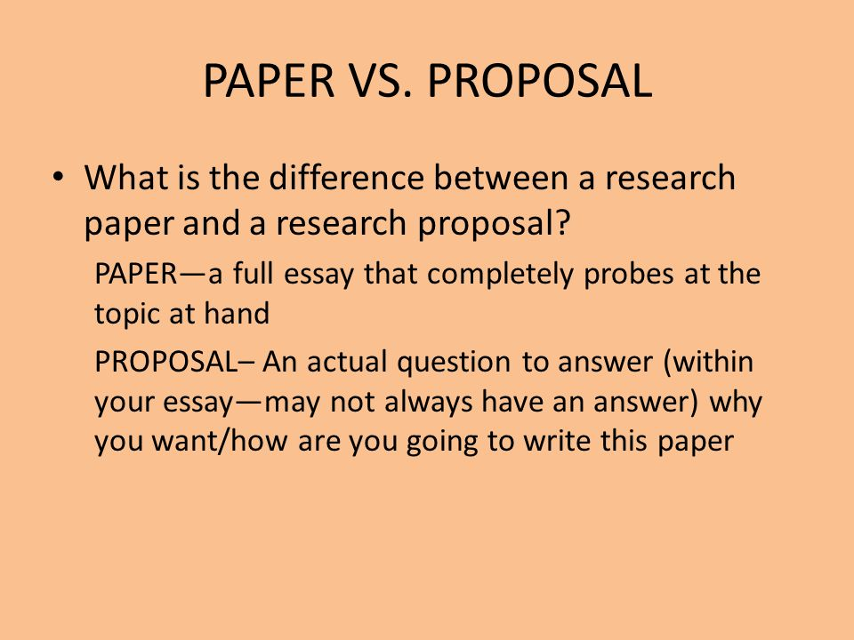 The Research Proposal  Ppt Video Online Download