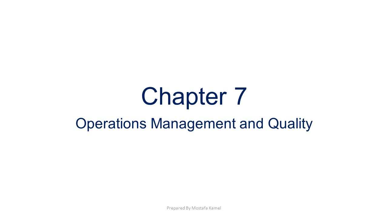 quality and operation management Operations and quality management handbook manufacturing industries in south africa play an important role in the south african economy as it employs a large percentage of the labour force.