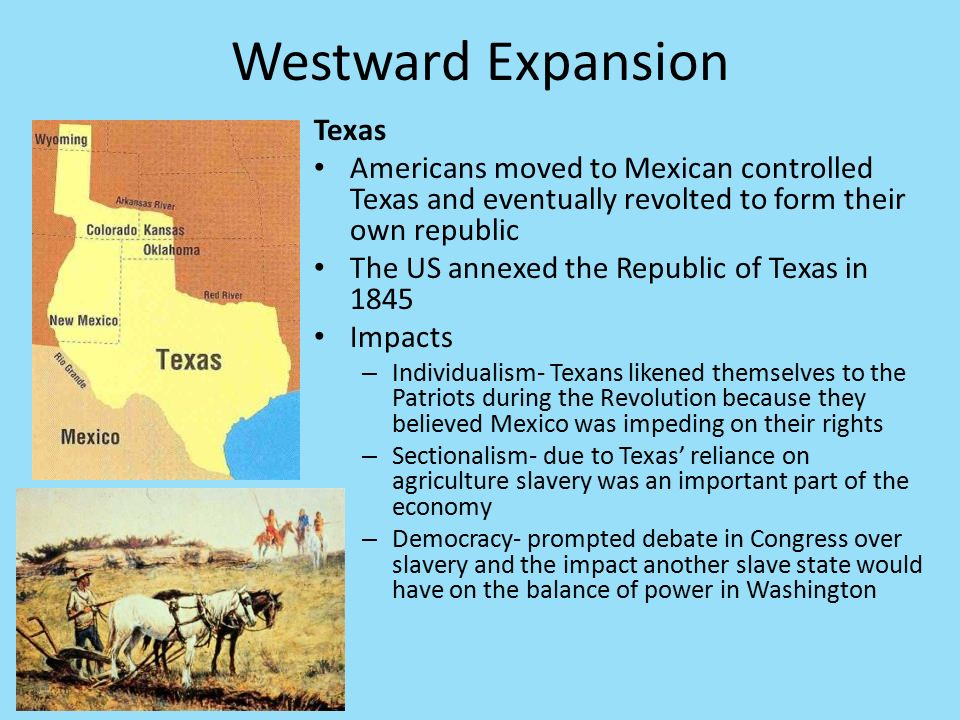 What Was the Cause and Effect of Westward Expansion?
