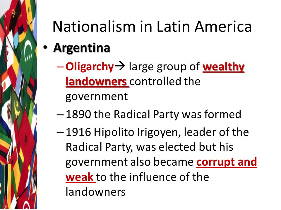 nationalism in latin america essay The dictionary of caribbean and afro-latin american biography  each month,  the editors of the oxford african american studies center provide  this photo  essay explores how african americans have historically dealt with oppressive.