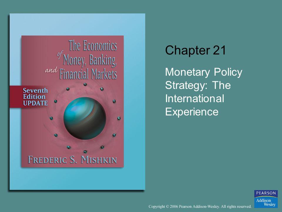 Monetary Policy Strategy: The International Experience
