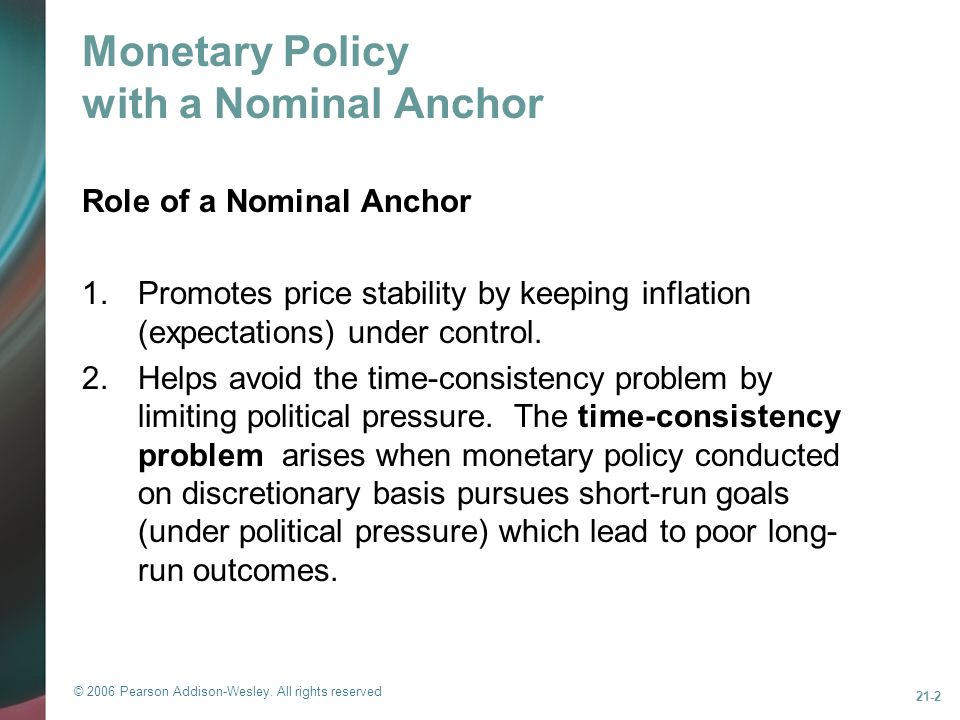 Monetary Policy with a Nominal Anchor