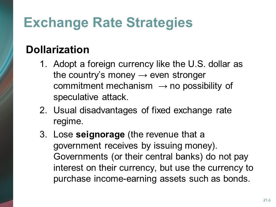 Exchange Rate Strategies