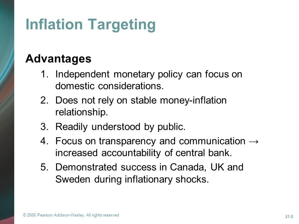 Inflation Targeting Advantages
