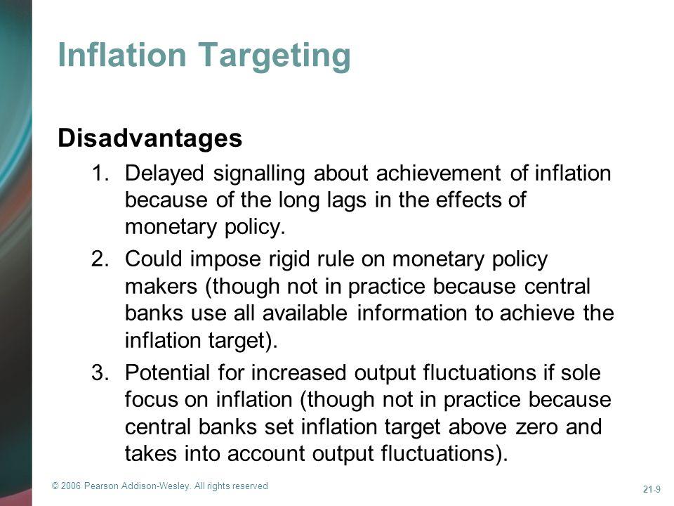 Inflation Targeting Disadvantages