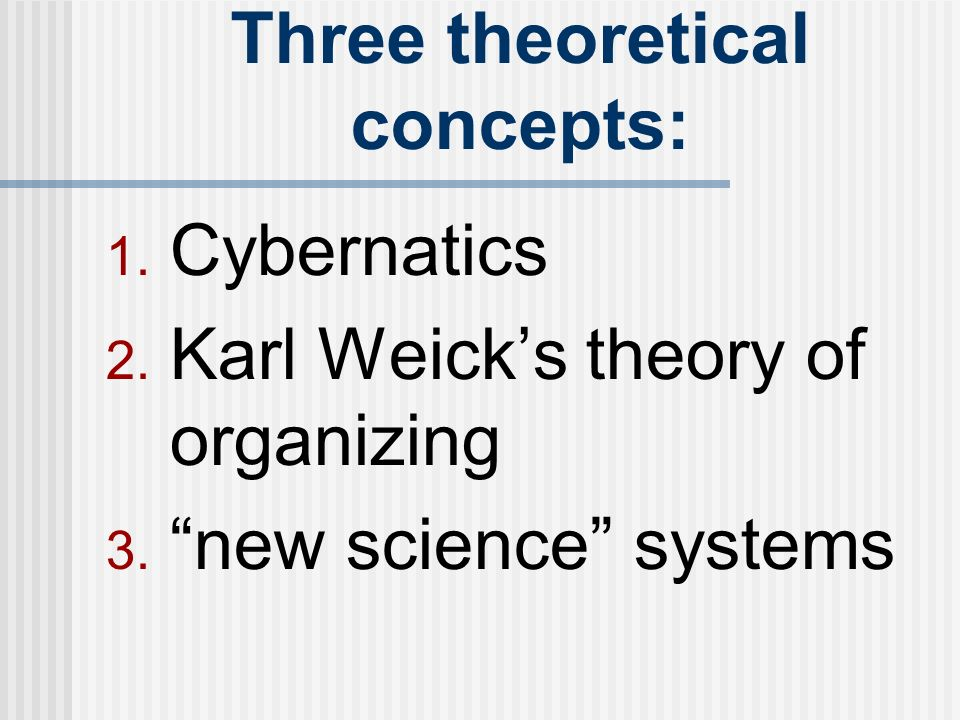 Karl weiks theory of organizing