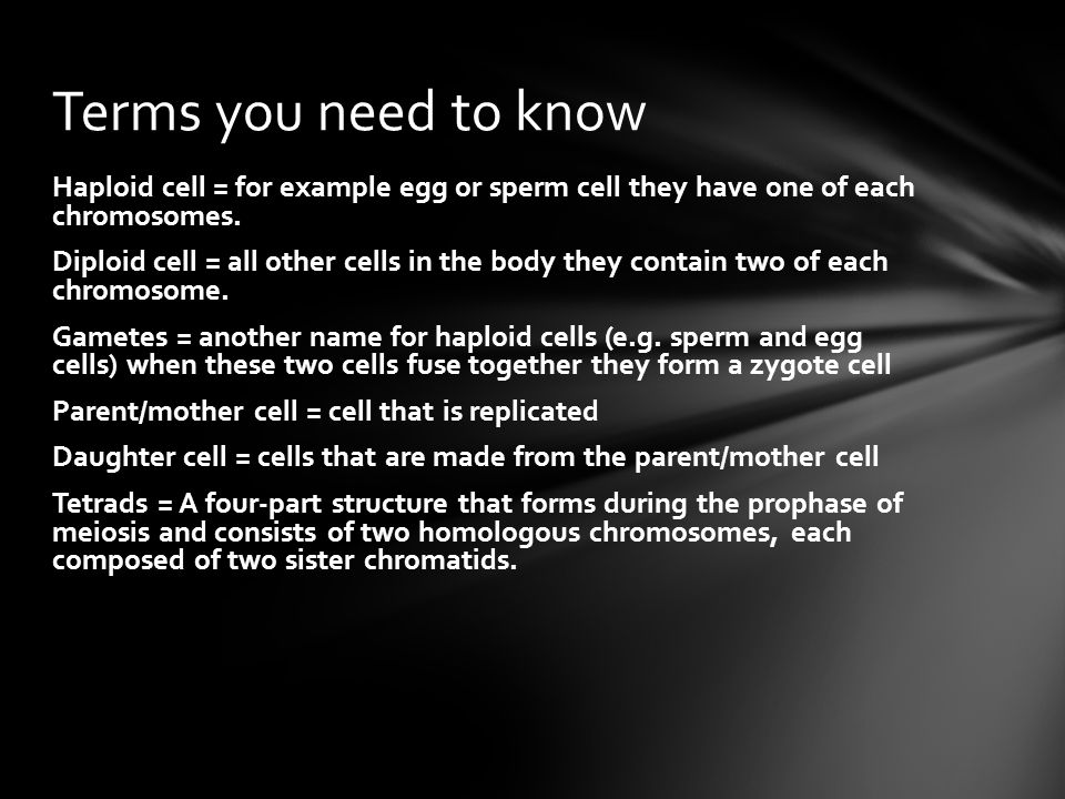 Meiosis Year 10 Li To understand the process of Meiosis. I can ...