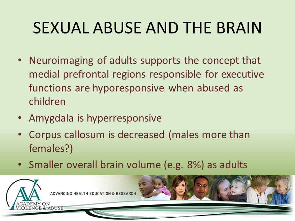what sexual assault does to the brain