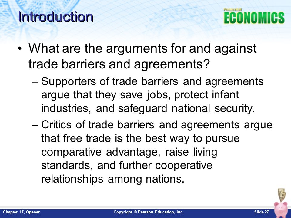 an argument in favor of international free trade agreements Earn free access  what are the arguments in favor of trade restrictions, and what are the counterarguments  the national-security argument balances economic .