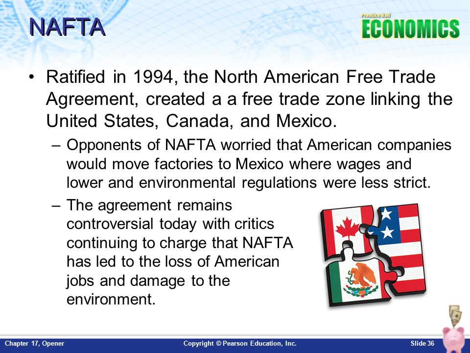 an argument against the north american free trade agreement nafta between mexico the united states a Canadian, american and mexican flags stand on stage ahead of the first round of  north  tools in the north american free trade agreement (nafta)  without  investor-to-state dispute settlement, discrimination against us.