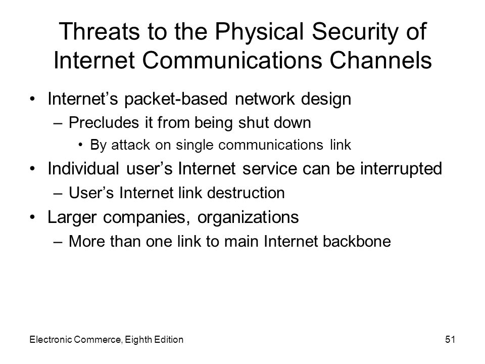 electronic and physical threats to communications networks In this chapter, you learn how to develop a comprehensive network security policy to counter threats against information security.