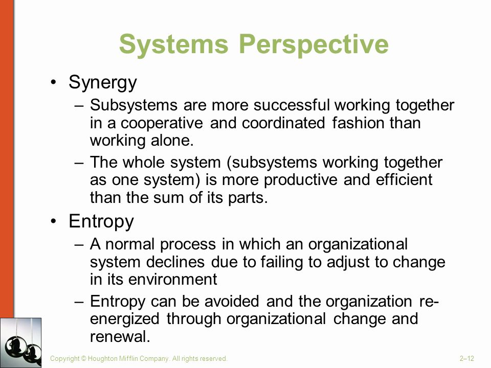 Systems Perspective Synergy Entropy