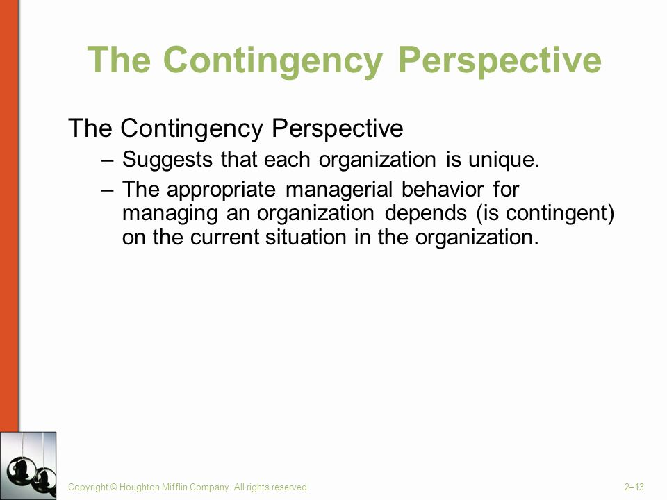 The Contingency Perspective