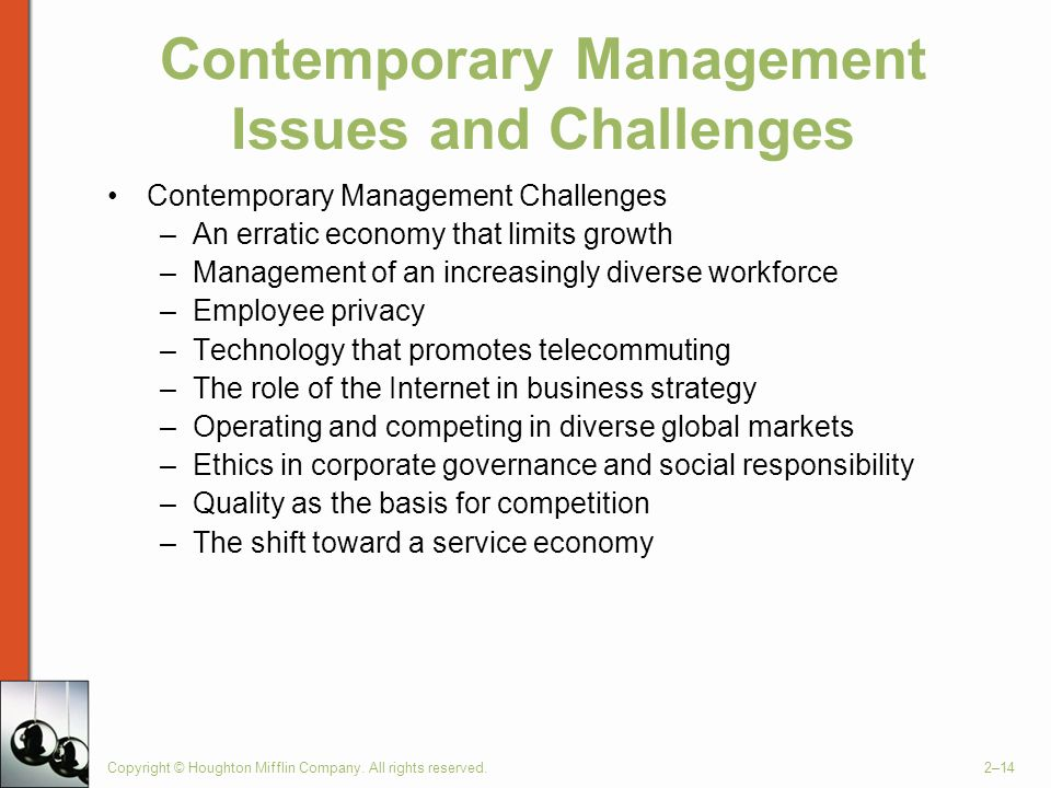 Contemporary Management Issues and Challenges