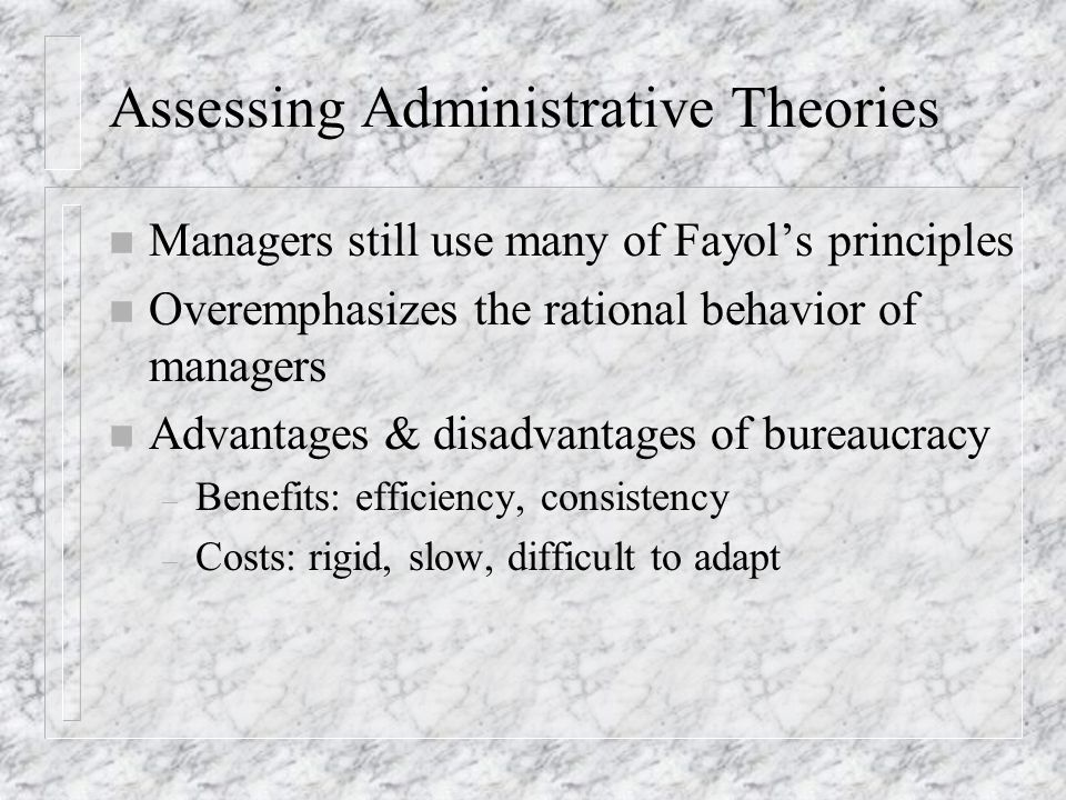 Assessing Administrative Theories