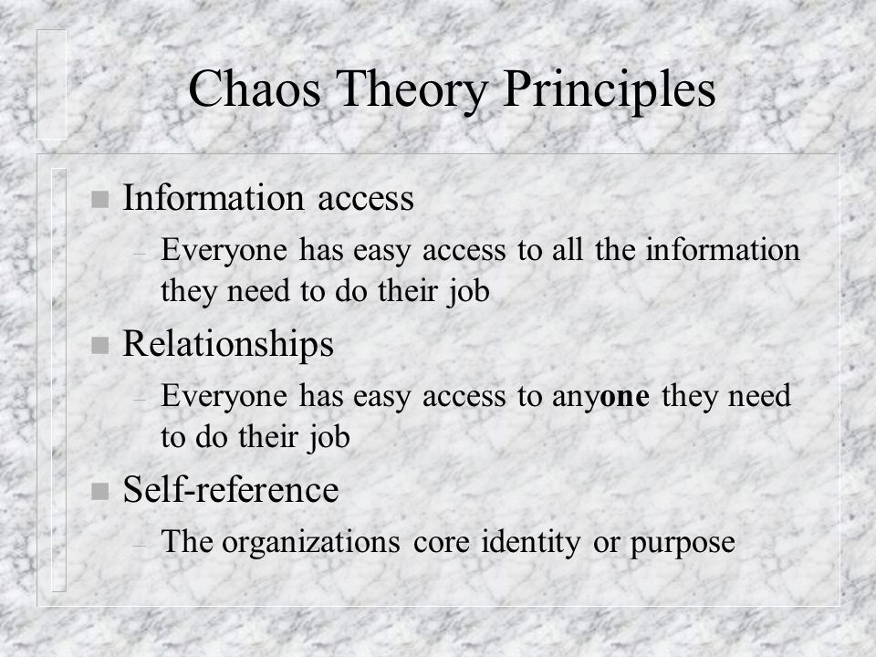 Chaos Theory Principles
