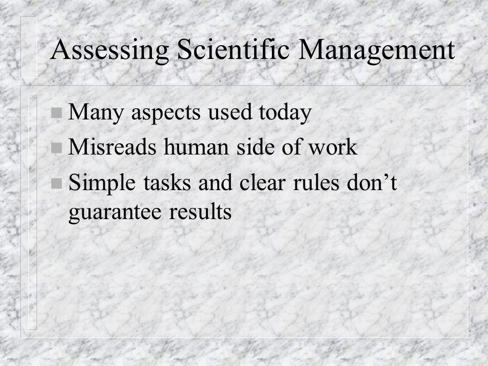 Assessing Scientific Management