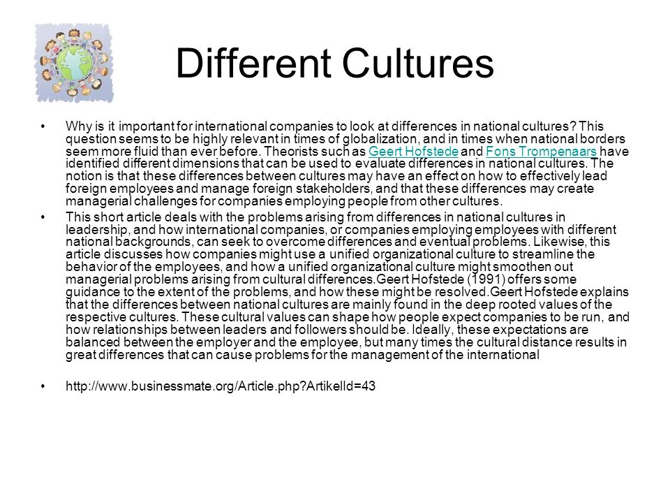 Dating differences between cultures