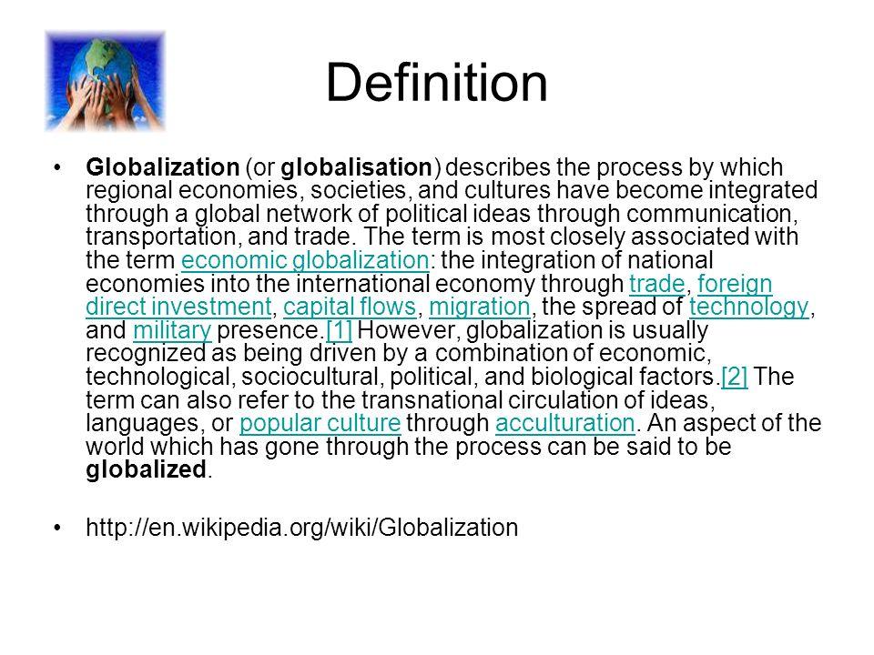 Globalization & International relations