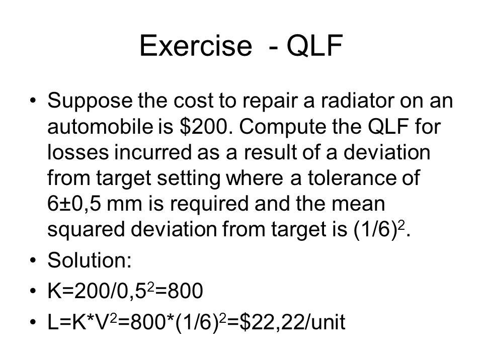 Exercise - QLF