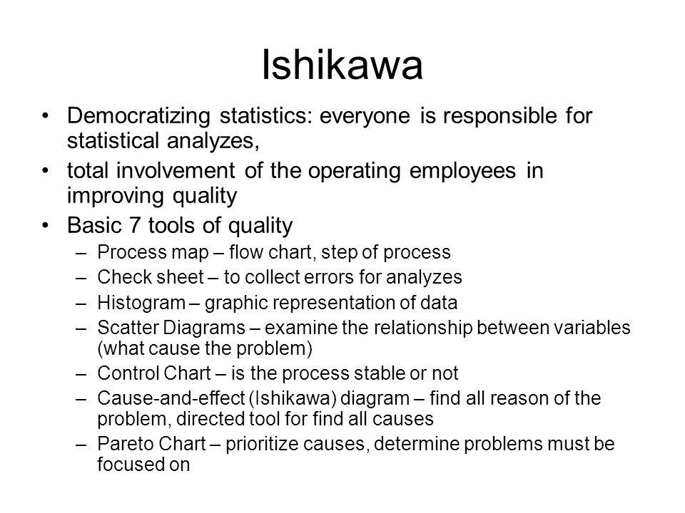 Ishikawa Democratizing statistics: everyone is responsible for statistical analyzes,