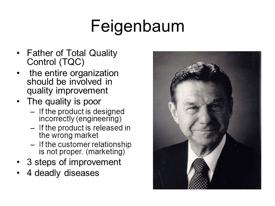 Feigenbaum Father of Total Quality Control (TQC)