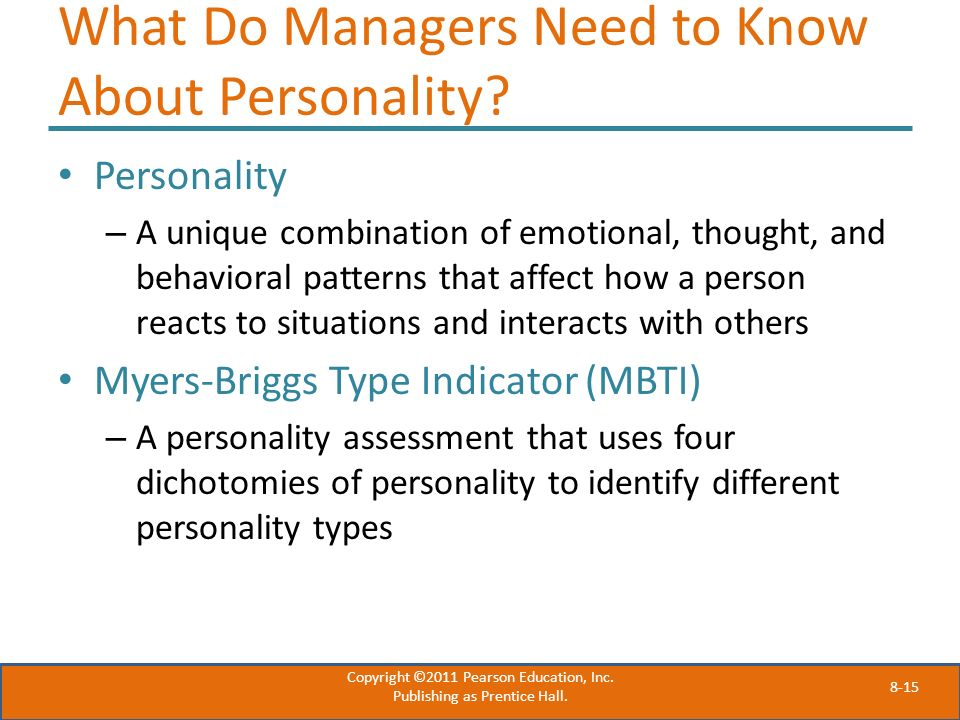 What Do Managers Need to Know About Personality