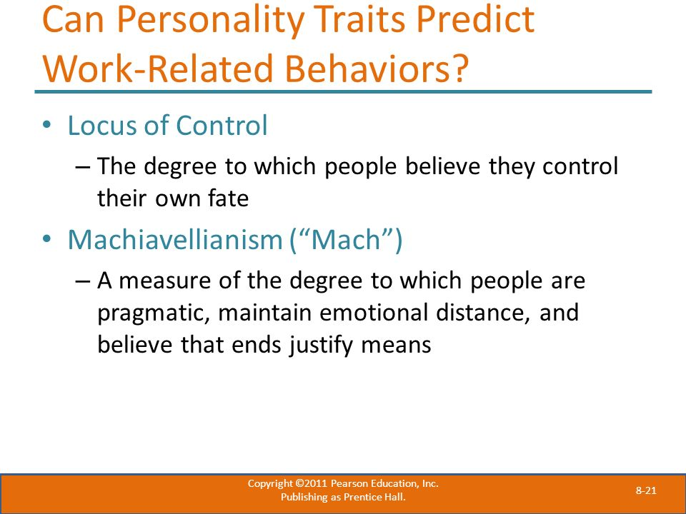 Can Personality Traits Predict Work-Related Behaviors