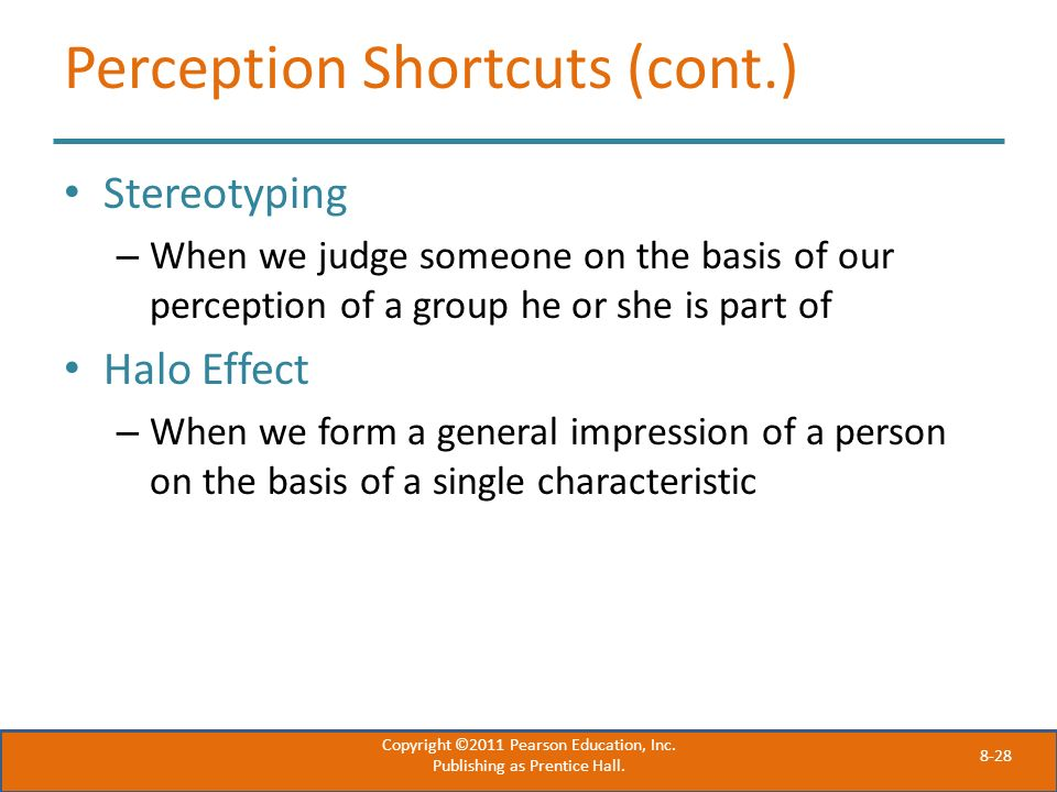 Perception Shortcuts (cont.)