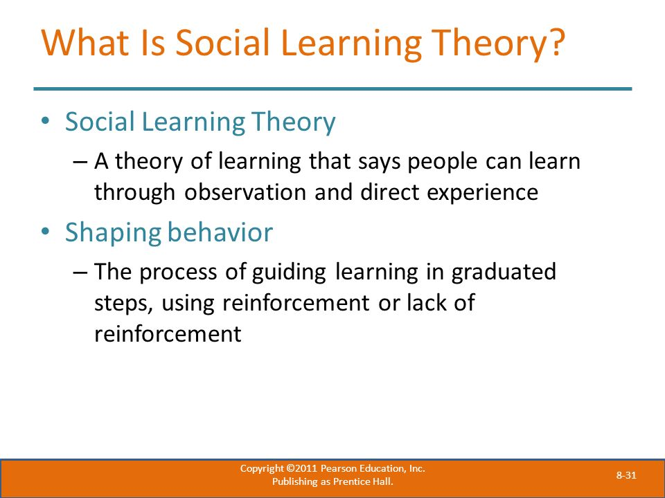 What Is Social Learning Theory