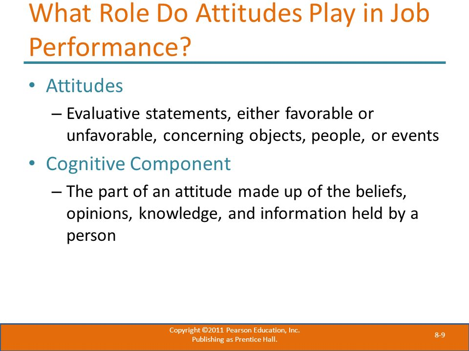 What Role Do Attitudes Play in Job Performance