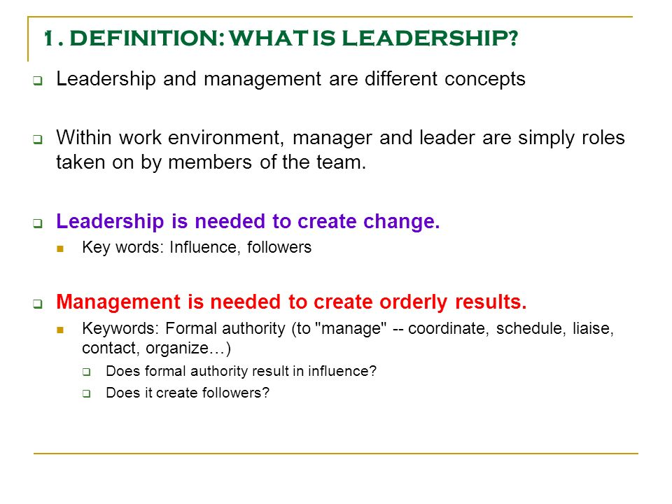 leadership within the group Vision, leadership, and change  whether the vision begins with a leader's personal concept or a group's consensual image of a school or district picture of the future, it is important.