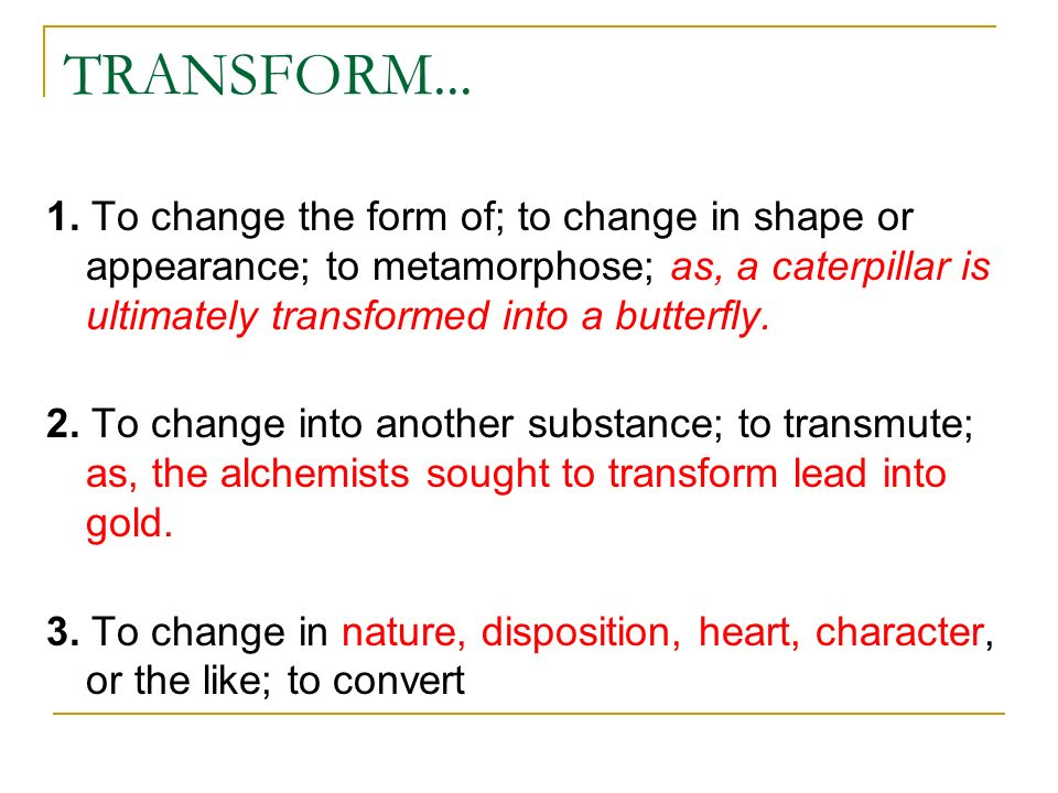 transformationl change Rapid transformational therapy:  as you learn how to heal and help others over nine intensive days of training, you will inevitably grow and change yourself.