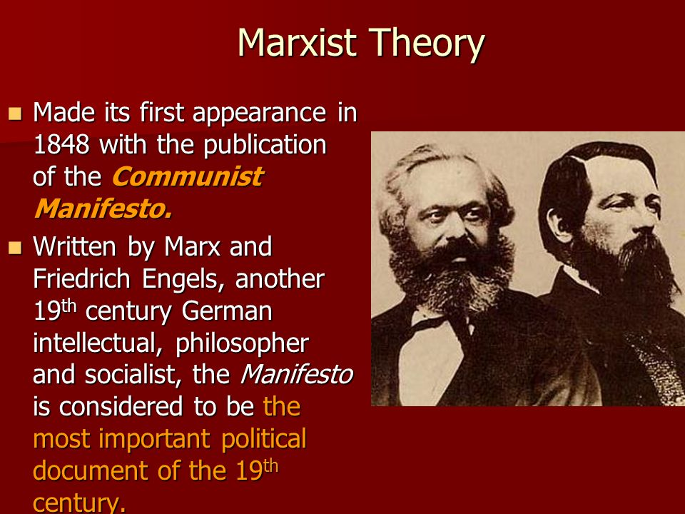 an analysis of the importance of the marxist theory by karl marx a german philosopher Marxist educational theory unplugged   karl marx and his ideas have figured much more  or used them in ways not consonant with marxist analysis (eg labour.
