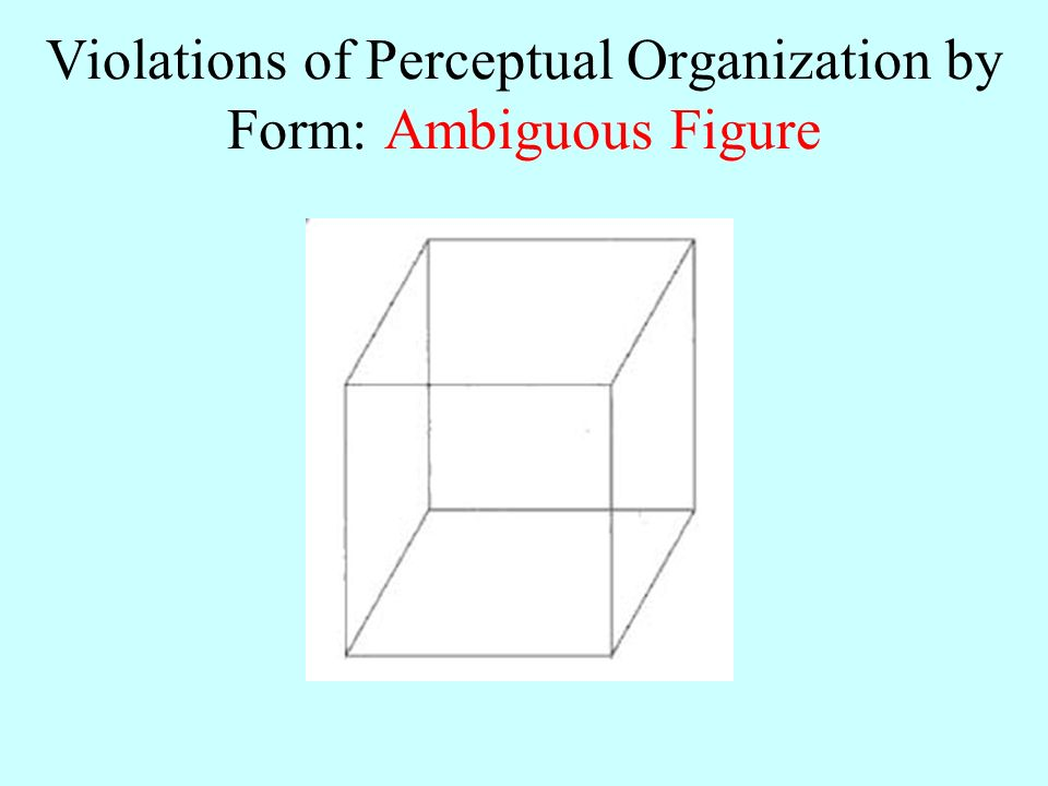 perceptual form organization Notes perception  gestalt principles of perceptual organization continuity we tend to perceive figures or objects as belonging together if they appear to form.