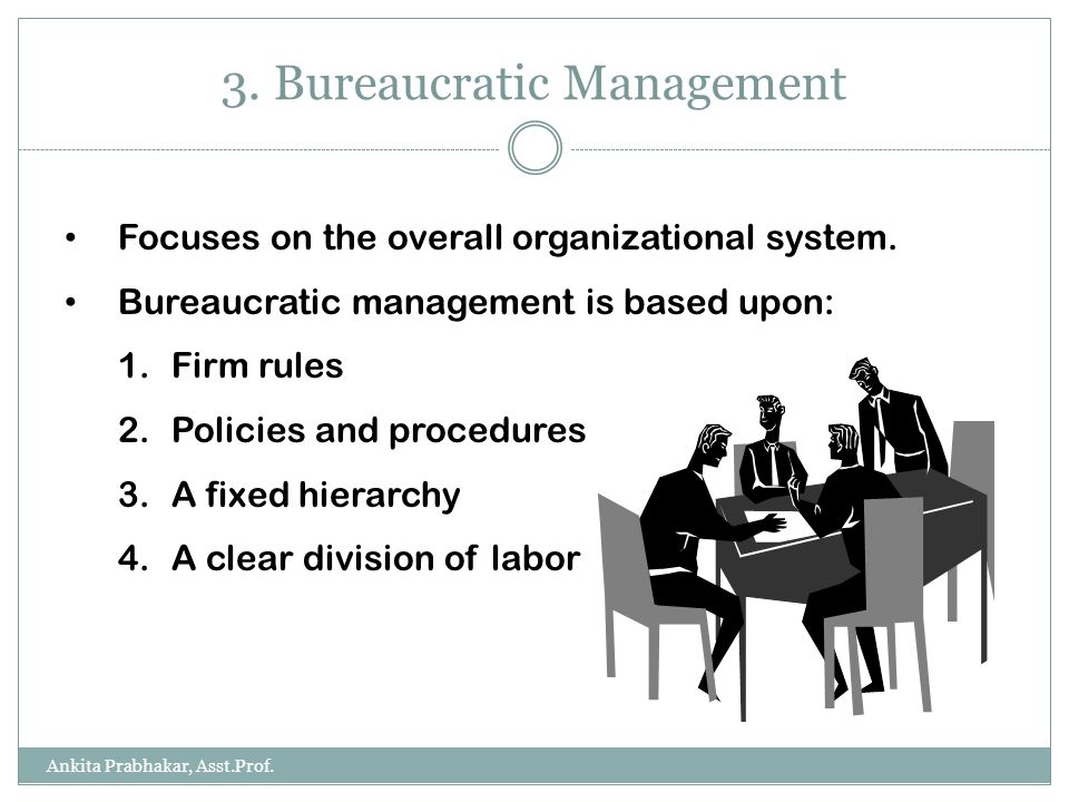 bureaucratic and administrative management theories Administrative management theory :- theory of bureaucracy, fayol's principles of management - introduction to management (itm), bsccsit third semester.