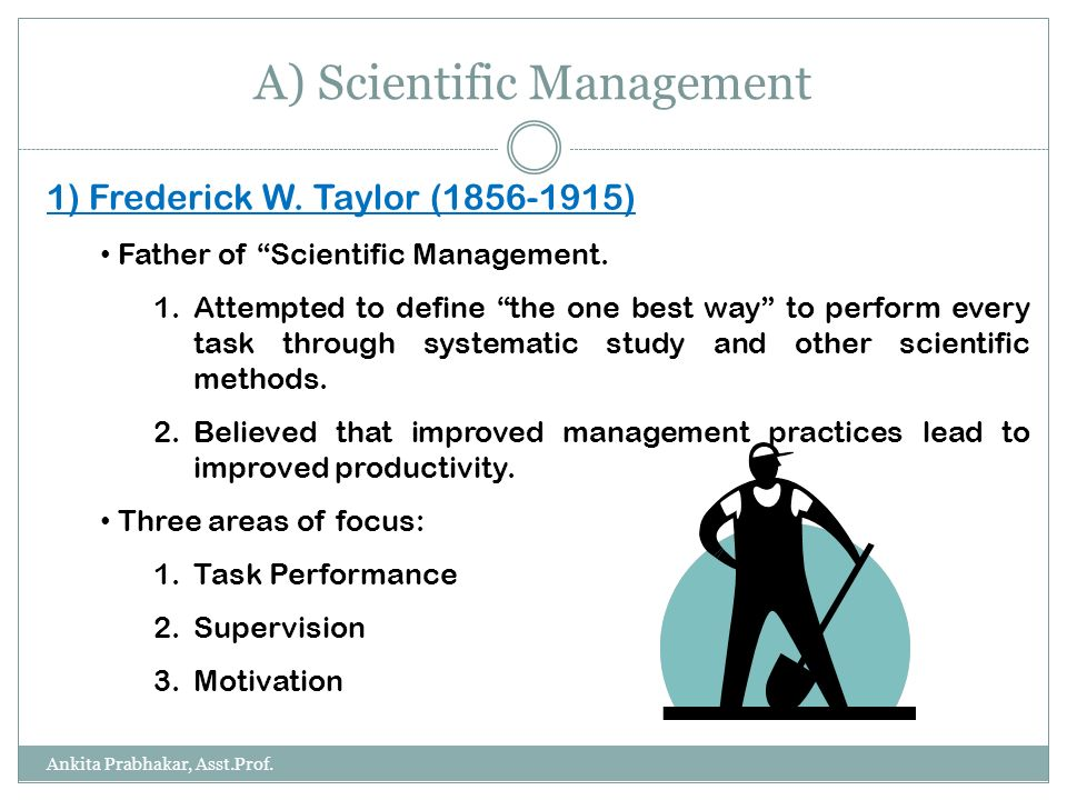 scientific management human relations Of scientific management formulated ideas about the human factor, and in  particular  of management from taylor to human relations is not one of  progressive.