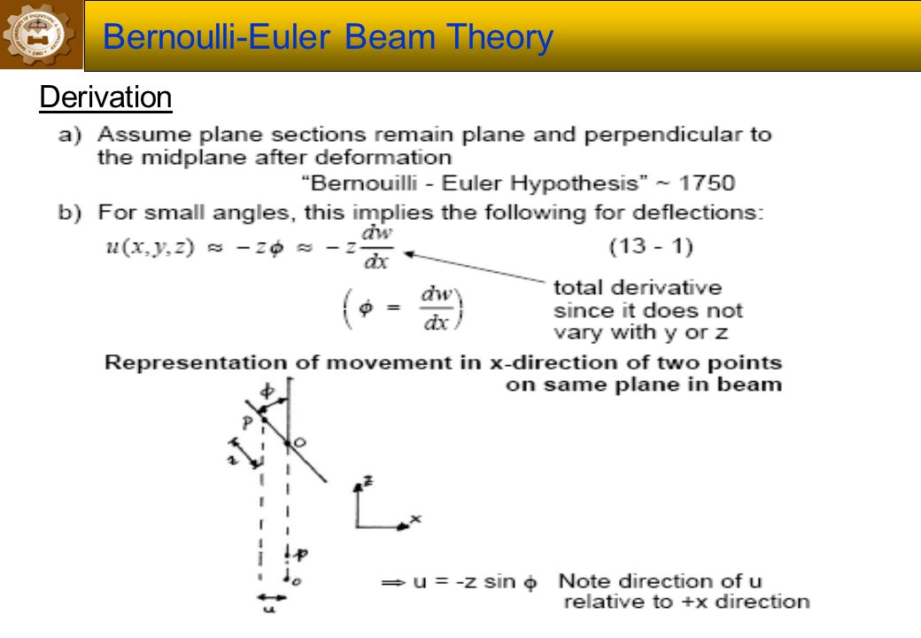 Elastic beam theory bernoulli hypothesis how do i cite the bible in a research paper