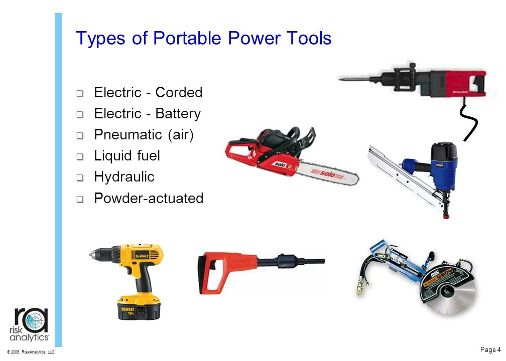 Power Tool Safety Training