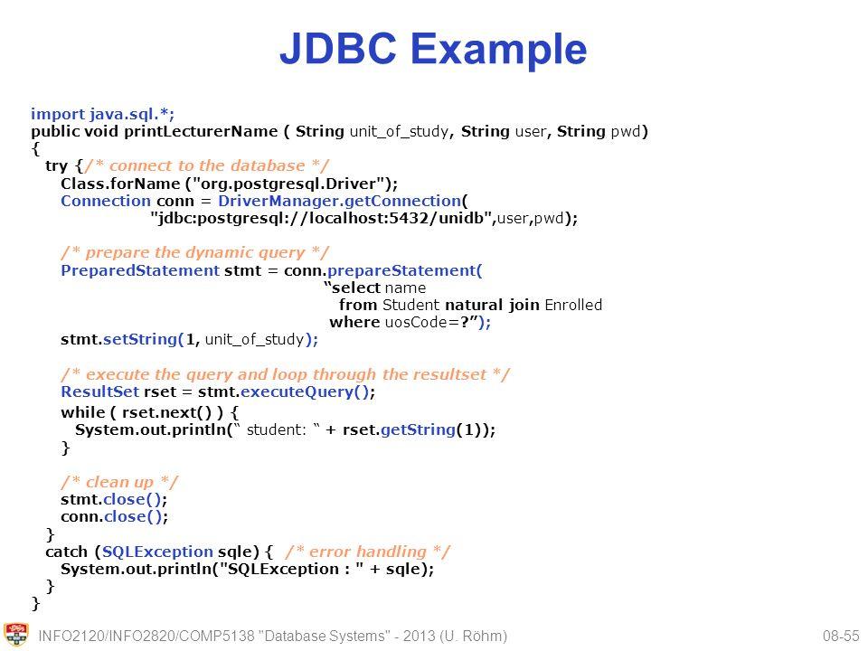prepared statement java example