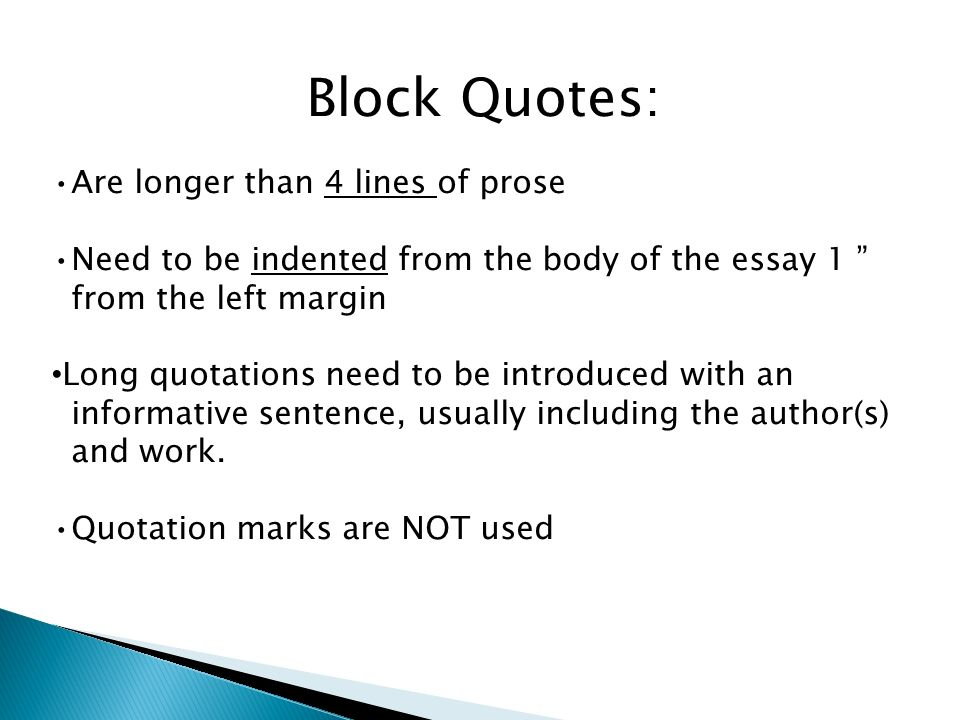 long quotes in essays apa