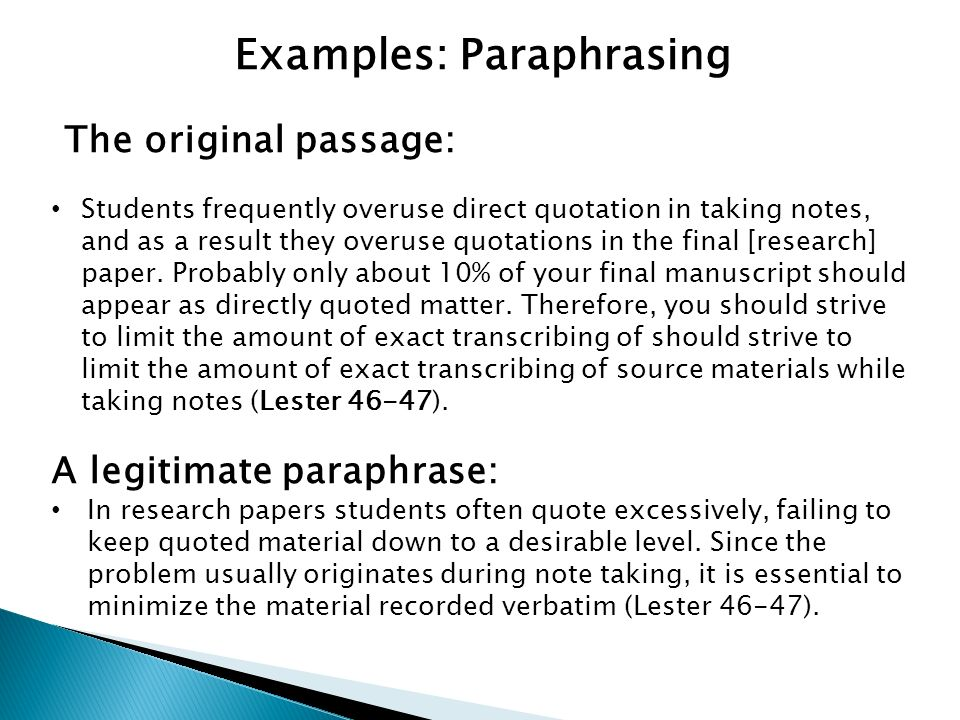 paraphrasing in a research paper Pharmacy students homework help paraphrasing research paper critical thinking application papers unit 4 essay on space and astronomy.