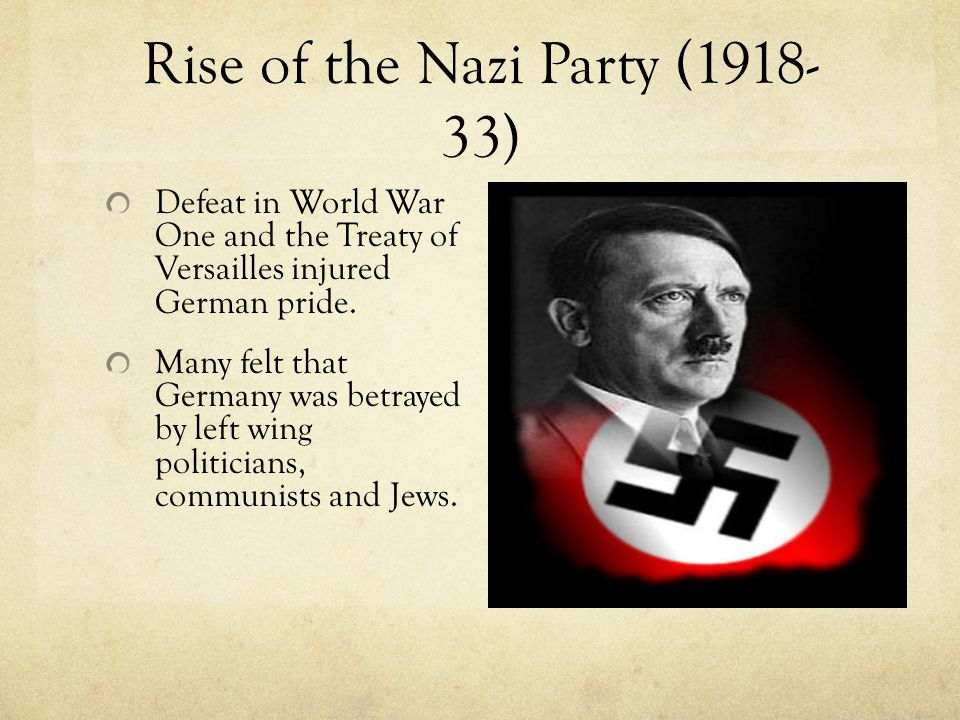the rise of the nazi party essay Essay on the rise of the nazi party 1091 words   5 pages the rise of the nazi party hitler's rise to power was the result of many factors, but hitler's ability to take advantage of germany's poor leadership and economical and political conditions was the most significant factor.