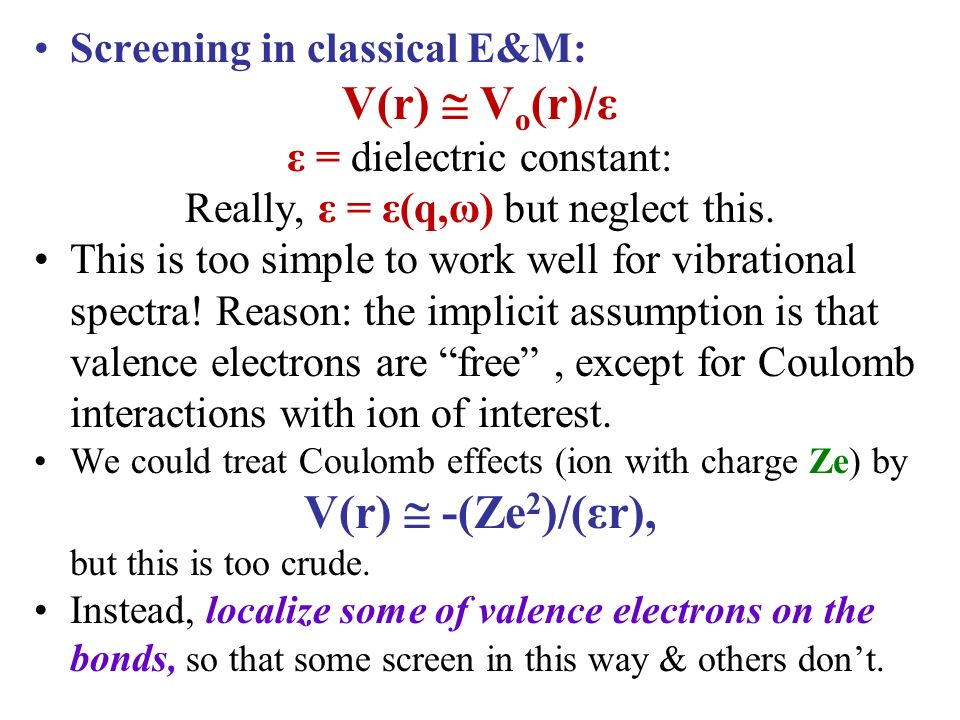 Which Neglect Coulomb