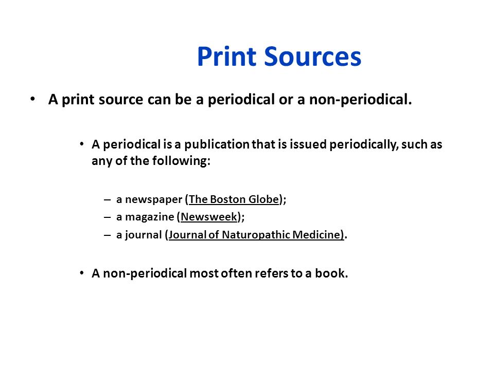 what is a print source in a research paper Home research support  citing sources citing sources apa also see print  version chicago also see print version or online (duke only) version cse.