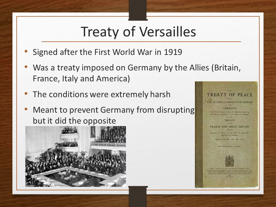 failure of the treaty of versaille The fourteen points and the versailles treaty p resident woodrow wilson reluctantly asked his countrymen to declare war on germany in 1917, he.