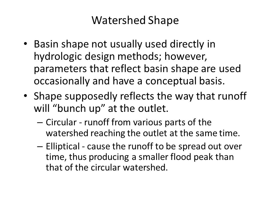 Watershed Shape